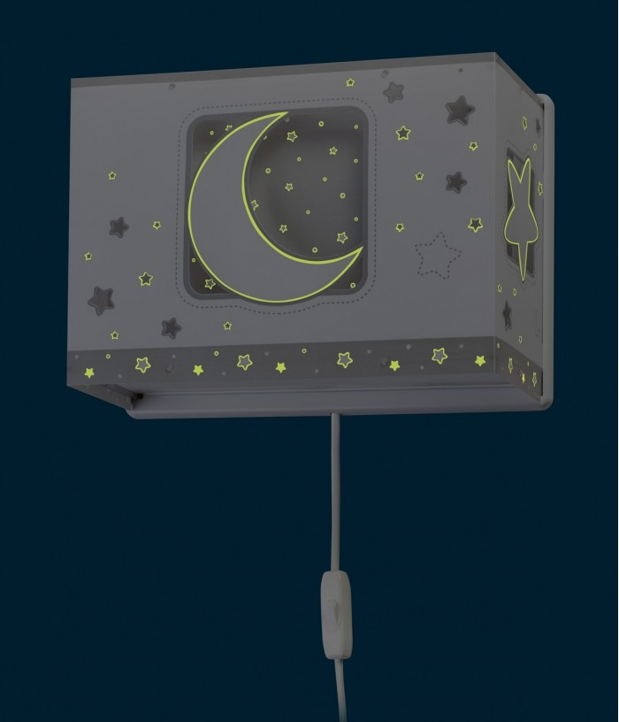 Children wall lamp Moonlight gray