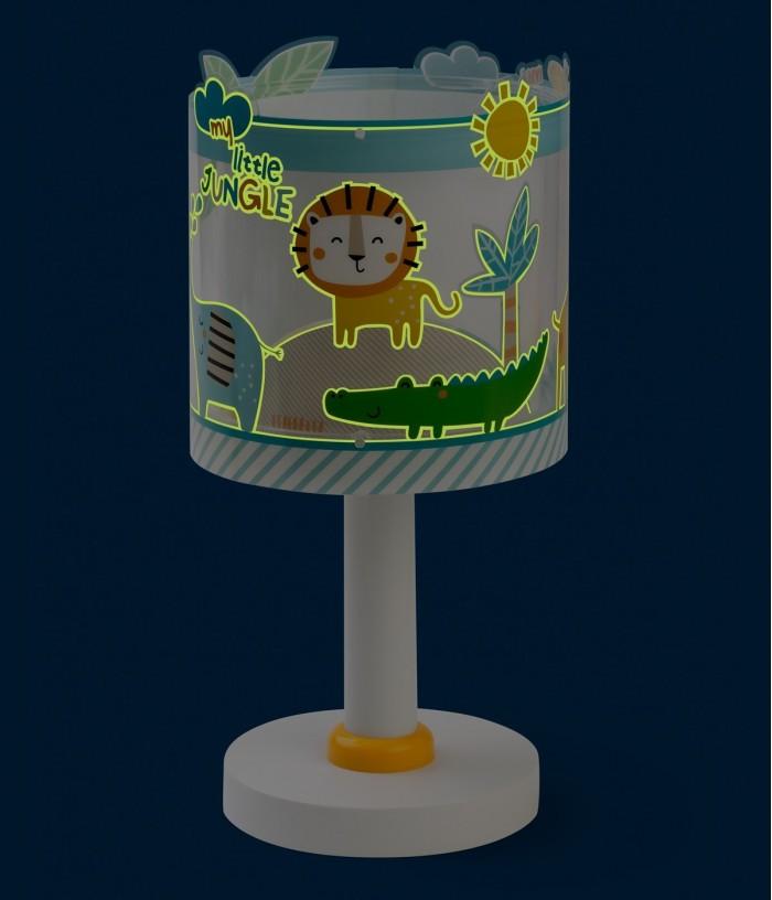 Lampada da comodino per bambini Little Jungle
