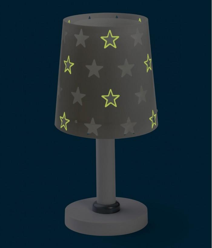 Lampada da comodino per bambini Stars grigio