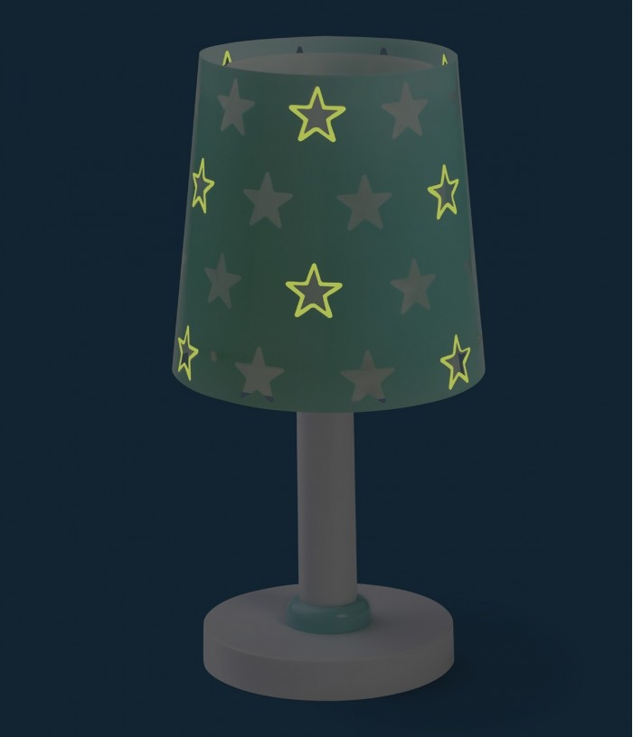 Children table lamp Stars green