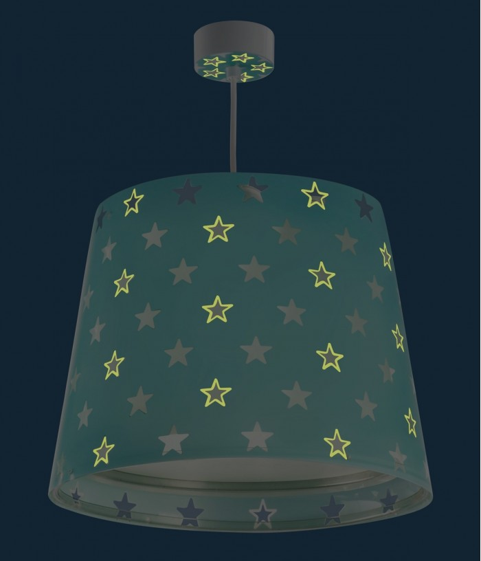 Children hanging lamp Stars green