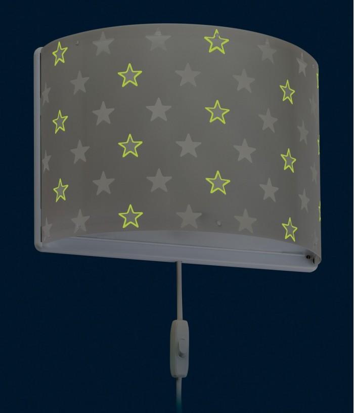 Aplique infantil de parede Stars cinza