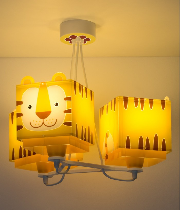 Children 3 light hanging lamp Little Tiger