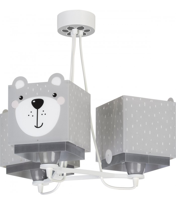 Children 3 light hanging lamp Little Teddy