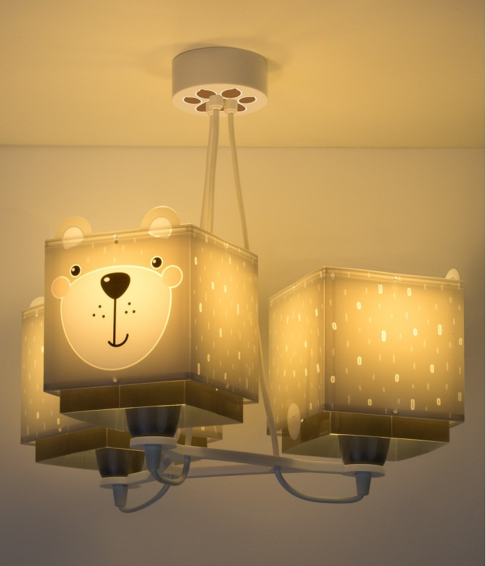Lampadario per bambini 3 luci Little Teddy