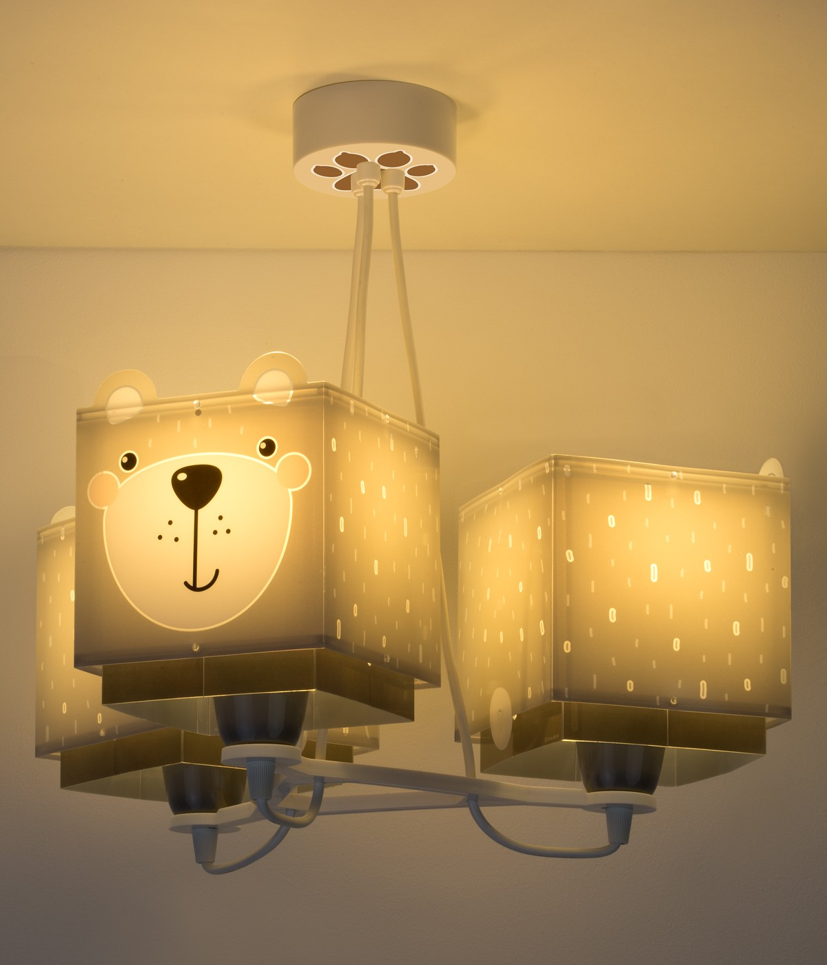 Lámpara infantil de techo 3 luces Little Teddy