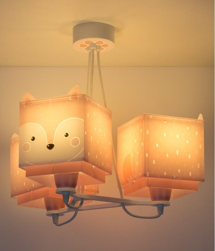 Lámpara infantil de techo 3 luces Little Fox