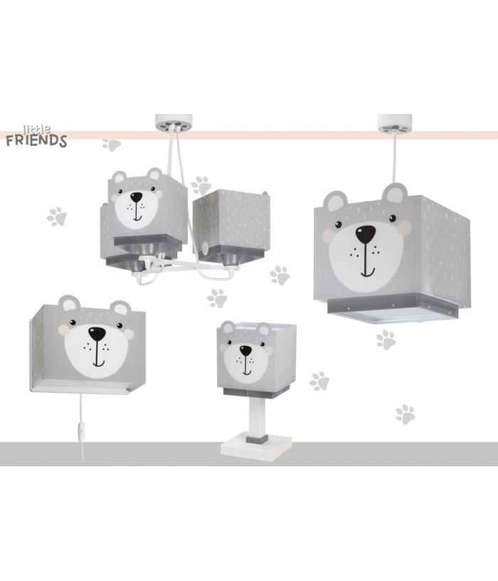 Candeeiro infantil de tecto três luzes Little Teddy