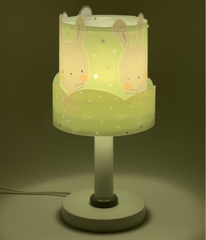 Children table lamp Baby Bunny turquoise