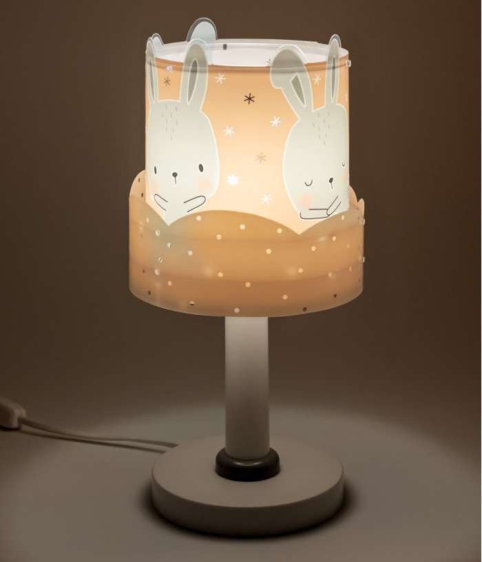 Children table lamp Baby Bunny coral