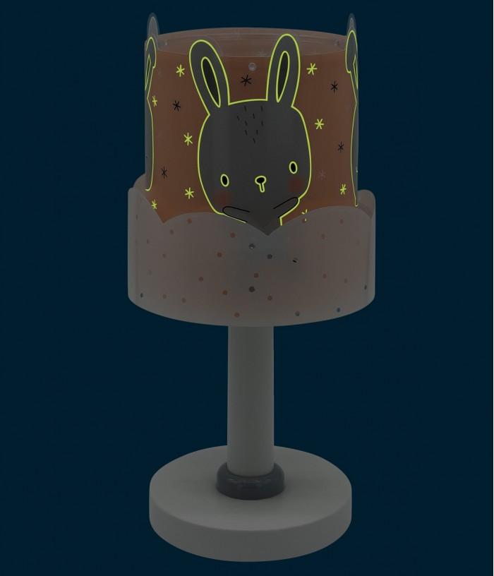 Candeeiro infantil de mesa Baby Bunny coral