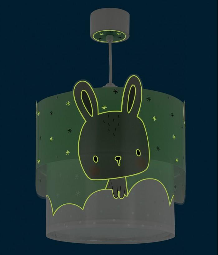Candeeiro infantil de teto Baby Bunny turquesa