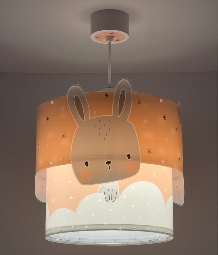 Lámpara infantil de techo Baby Bunny rosa