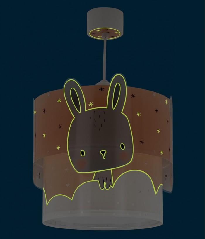 Candeeiro infantil de teto Baby Bunny coral