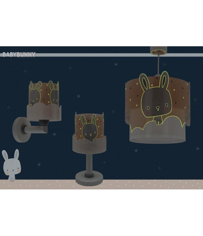 Lampada a sospensione per bambini Baby Bunny corallo