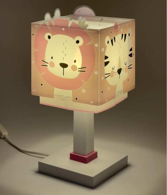 Lámpara infantil de mesa Baby Jungle rosa
