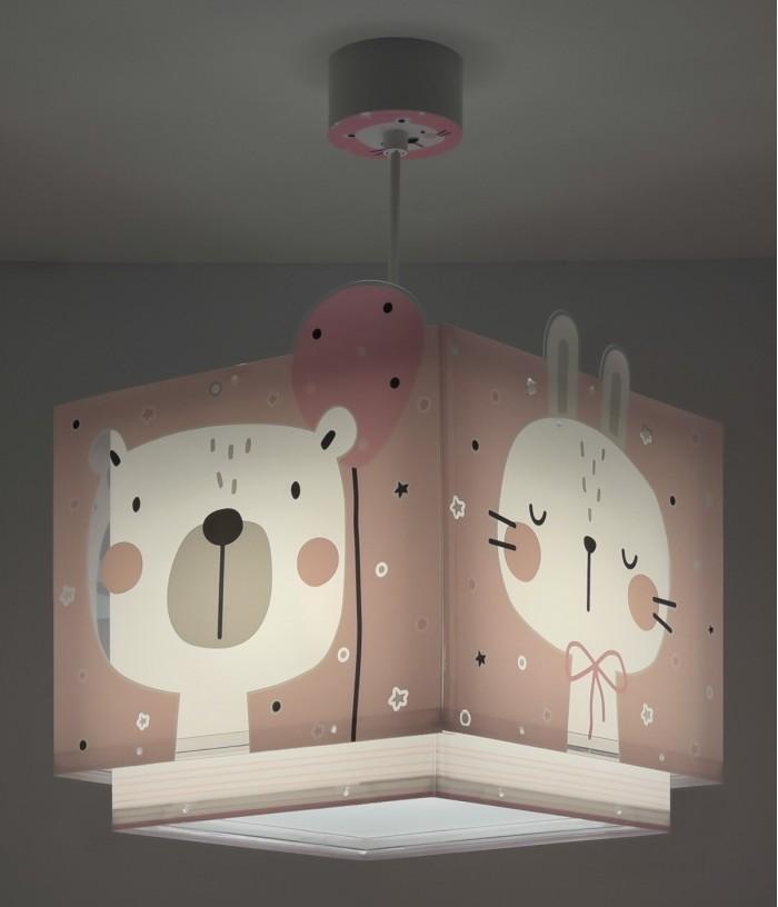 Children hanging lamp Baby Jungle pink