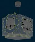 Candeeiro infantil de teto Baby Jungle azul