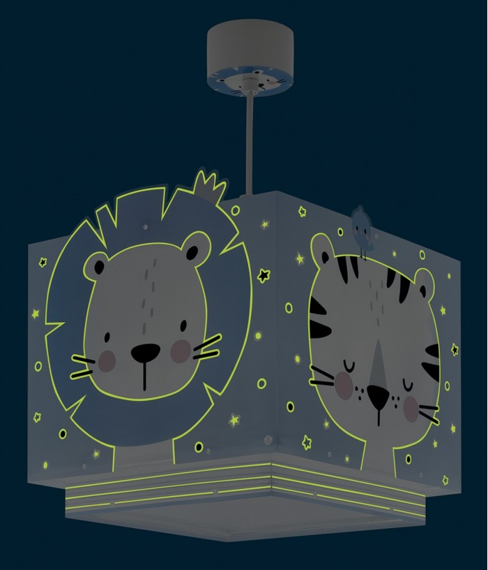 Lámpara infantil de techo Baby Jungle azul