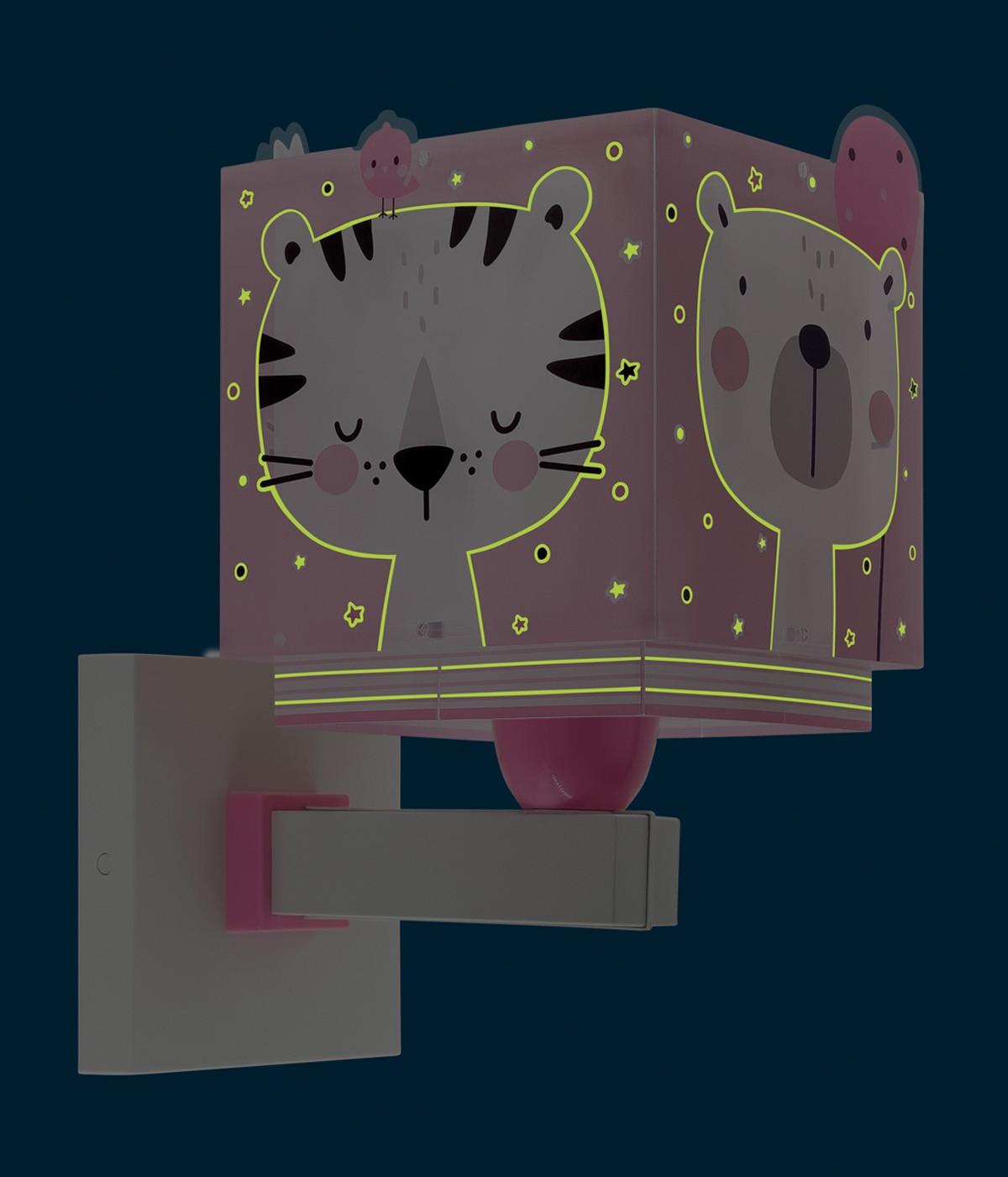 Children wall lamp Baby Jungle pink