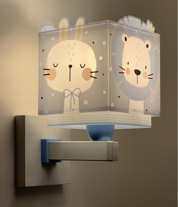 Children wall lamp Baby Jungle blue