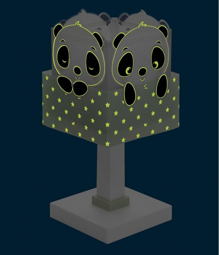 Lámpara infantil de mesa Panda Verde