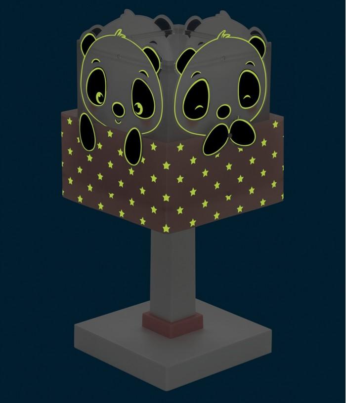 Lámpara infantil de mesa Panda rosa