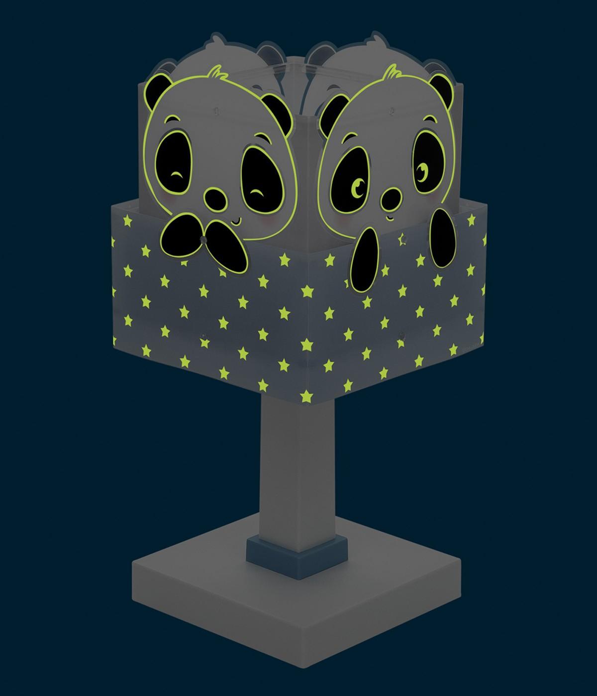 Lámpara infantil de mesa Panda azul