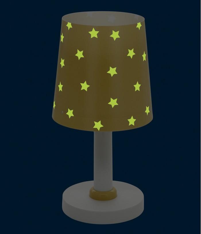 Candeeiro infantil de mesa Star Light amarelo
