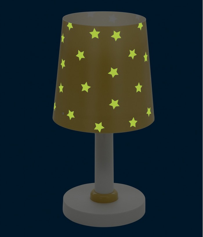 lampara infantil de mesa Star Light amarilla