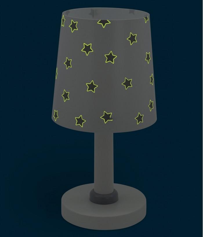 Lampada da comodino per bambini Star Light bianca