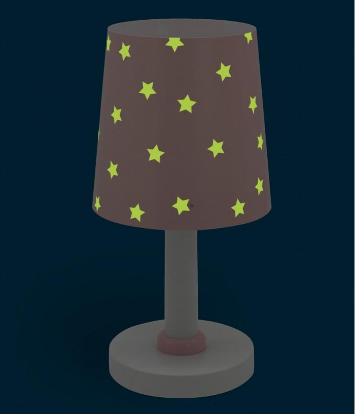 Children table lamp Star Light pink