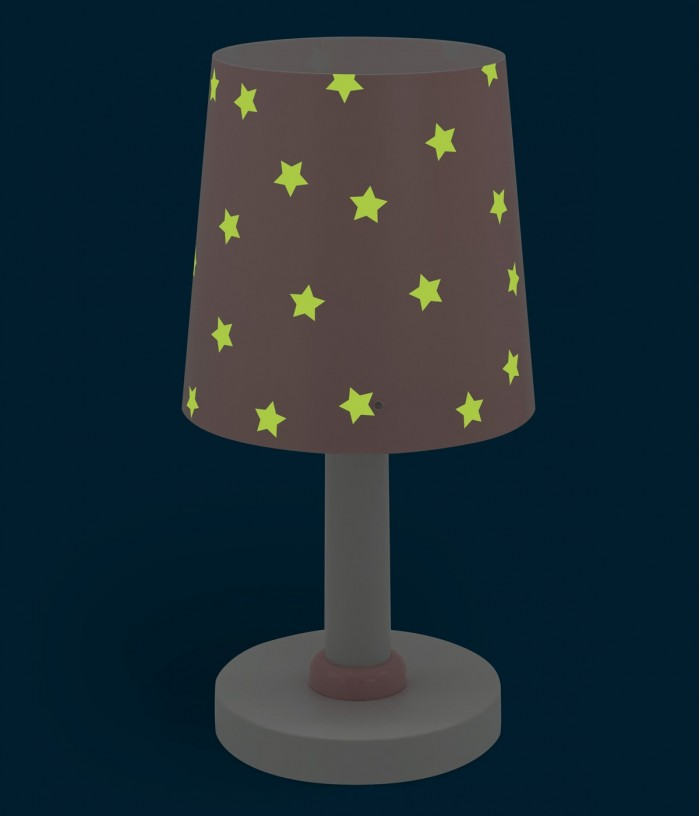lampara infantil de mesa Star Light rosa