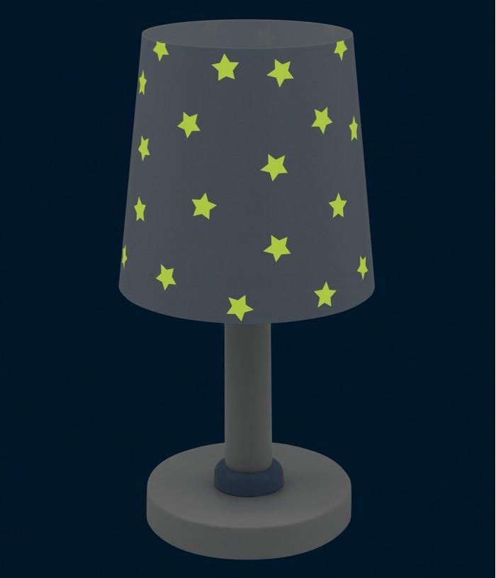 Lampada da comodino per bambini Star Light blu