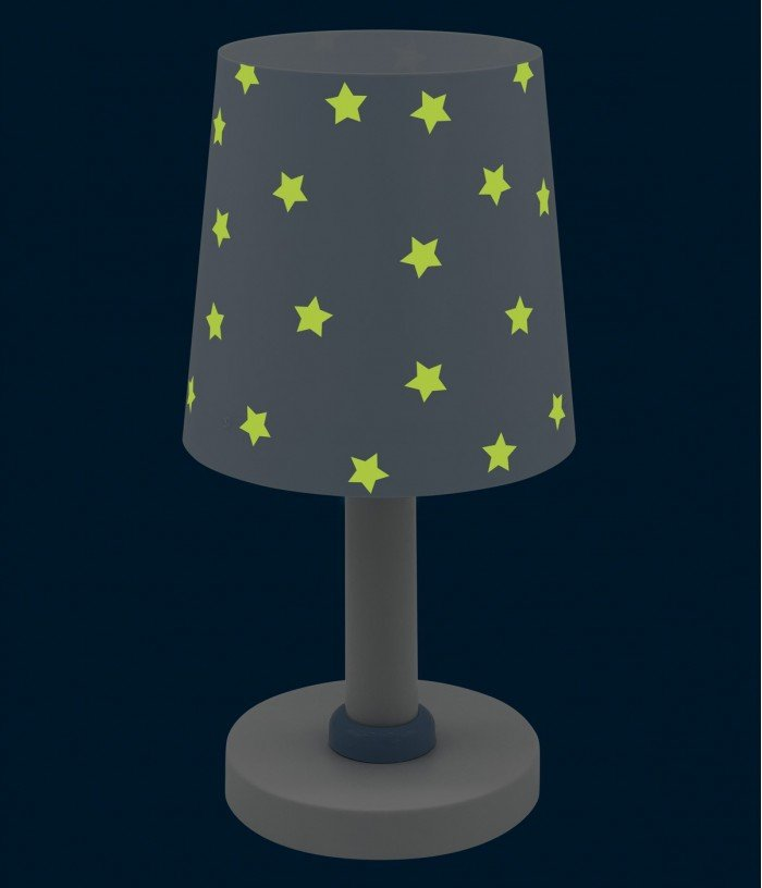 Candeeiro infantil de mesa Star Light azul