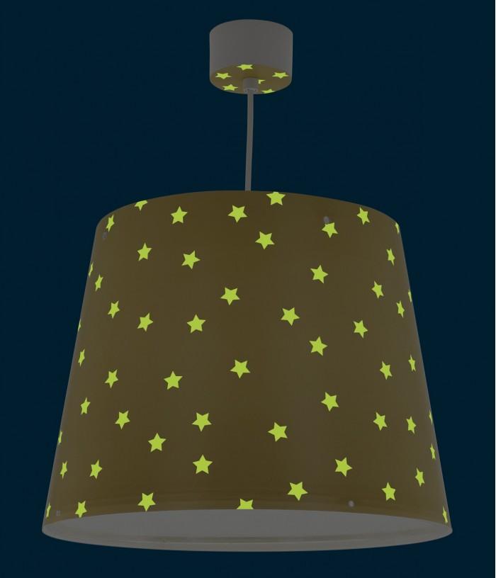 Candeeiro infantil de teto Star Light amarelo