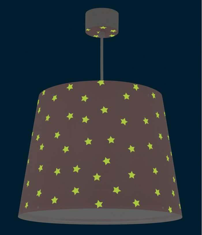Children hanging lamp Star Light pink