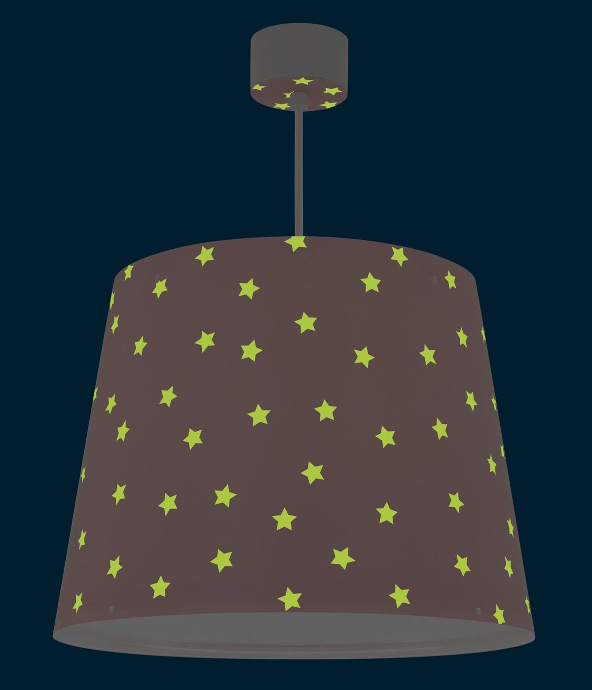Candeeiro infantil de teto Star Light rosa