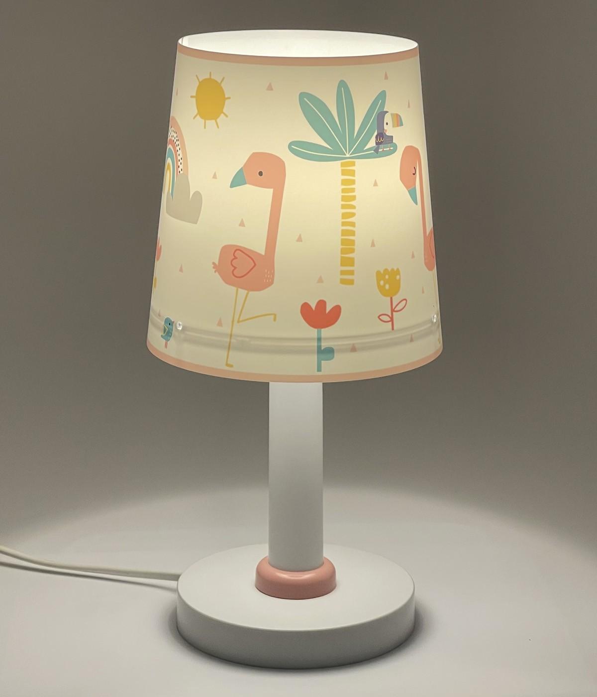Lámpara infantil de mesa Flamingo