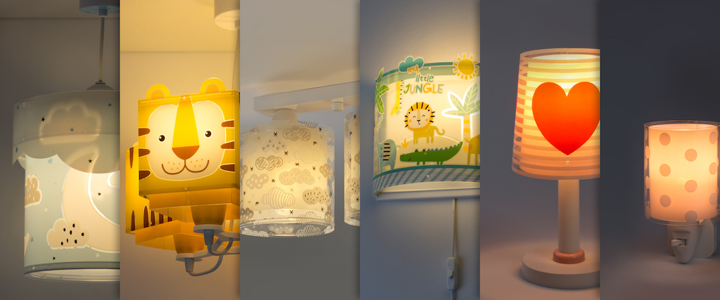 Dalber, children's lamps that give off illusion