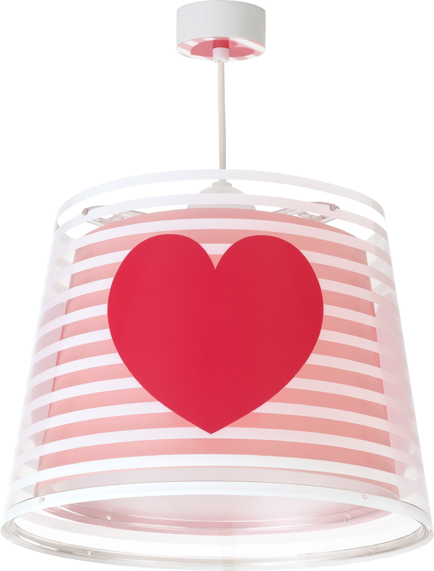 children hanging lamp heart