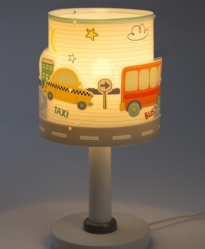 Lámparas infantiles con coches y aviones
