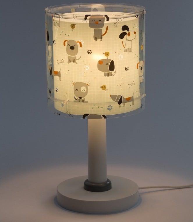 Lámparas infantiles con dibujos de perros