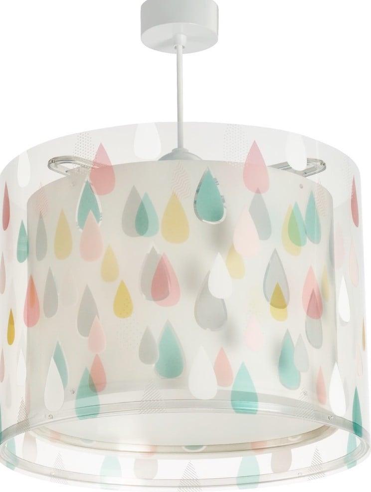 Lampade per bambini con gocce di pioggia colorate