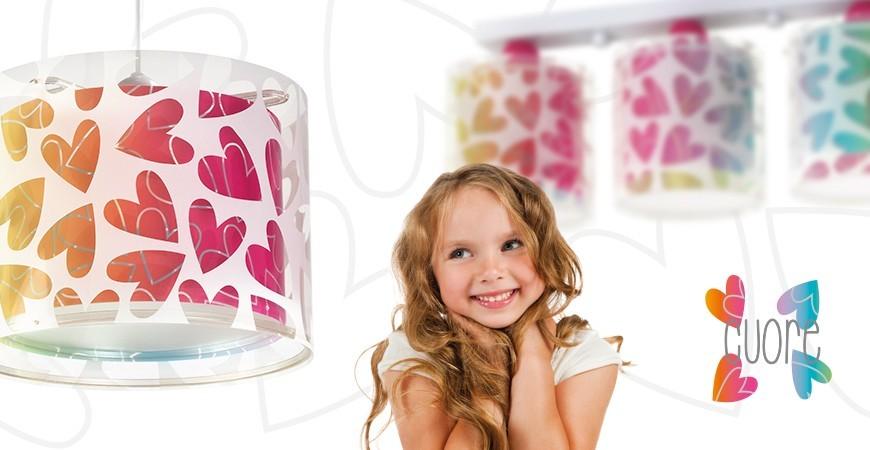 Lámparas Infantiles con corazones colección Cuore | DALBER