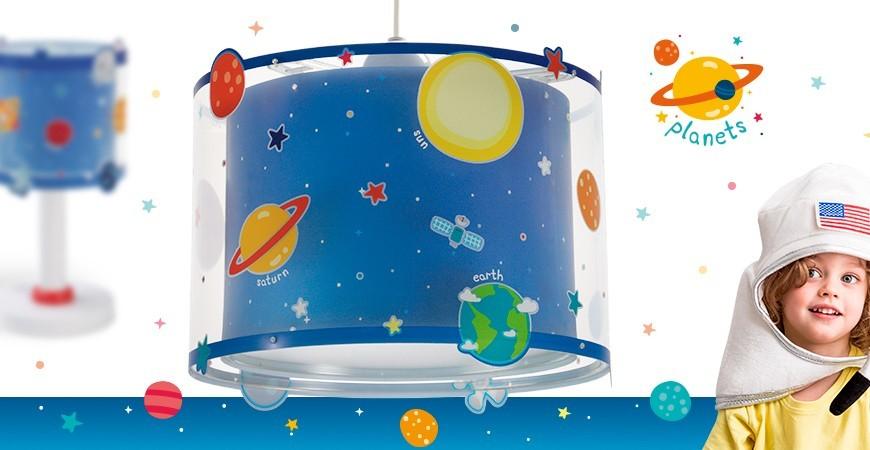 Lámparas Infantiles con planetas del sistema solar Planets | DALBER
