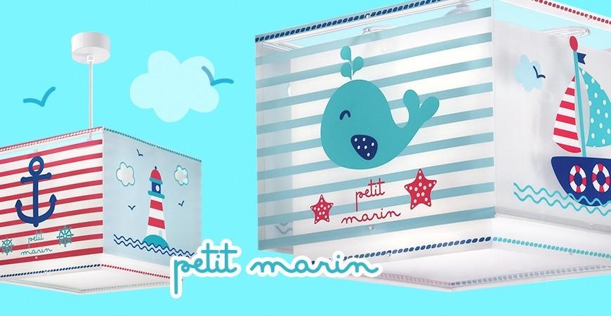 Lámparas infantiles con barco y ballena marinero Petit Marin | DALBER