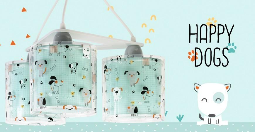 Candeeiros infantis com cachorrinhos coleção Happy Dogs | DALBER