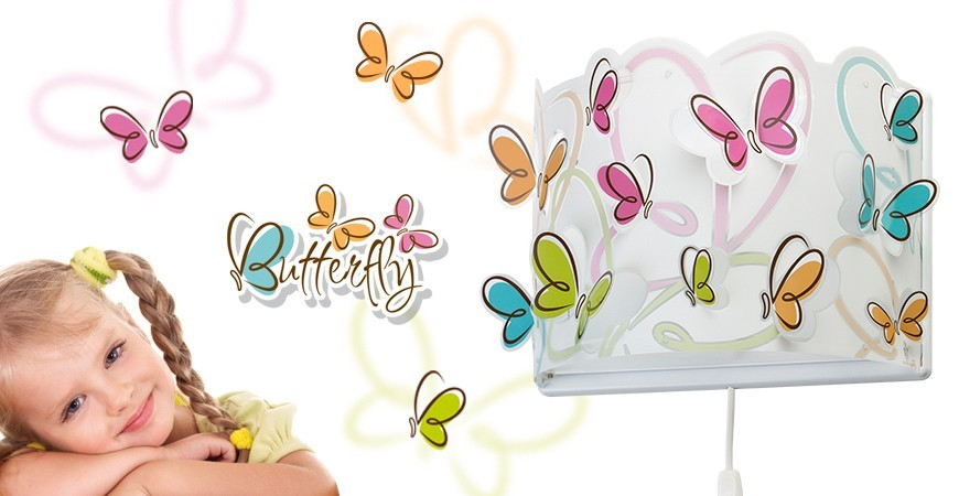 Candeeiros para crianças com borboletas coleção Butterfly | DALBER
