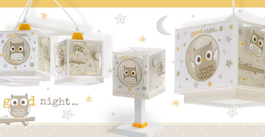 Lampade per bambini con il gufo Good Night   DALBER